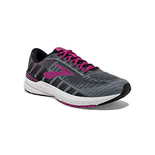Brooks Womens Ravenna 10 Running Shoe - Ebony/Black/Wild Aster - D - 12.0