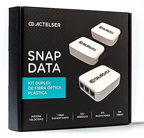 ACTELSER Kit Duplex de Fibra Óptica Plástica Snap Data (50 Metros)