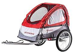 powerful SchwinnTrailblazer Children's Bicycle Trailer Single Seat Stroller Canopy 16inch Wheel Red