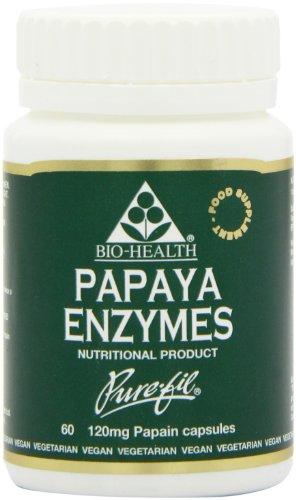 Bio Health Papaya Enzymes 60 Capsules