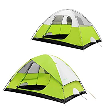 Star Home Backpacking Tent 2, 4, 6 Person Family Camping Hiking Waterproof 4 Season Tent by SKYLINK