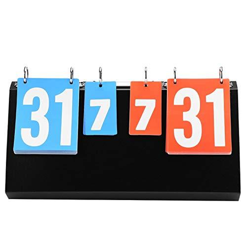 T-Day Marcador Deportivo de 4 dígitos, Marcador de competición Deportiva de 4 dígitos para Tenis de Mesa, Baloncesto, bádminton