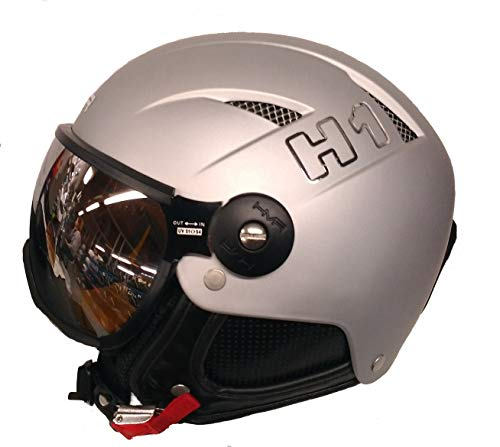 HMR – Skihelm H1 Silber – Damen – Grau XS 14 Jahre grau