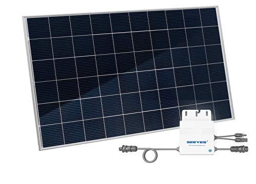 Home-Solar-Modul 320Wp, HSM320VE. Produziere eigenen Strom mit unserem hochwertigen Balkonkraftwerk (HSM310Wp ohne Ständer + ohne Anschlusskabel)