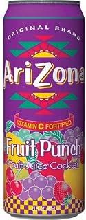Arizona Fruit Juice Cocktail Fruit Punch 23 oz ( 12 Pack )