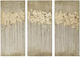 Madison Park Wall Art Living Room Décor - Embelished Gold Foil Triptych Canvas Home Accent Dining, Bathroom Decoration, Ready to Hang Painting for Bedroom, 15