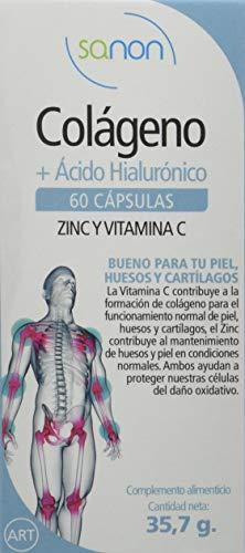 SANON - SANON Colageno + Acido Hialurónico 60 capsulas de 595 mg