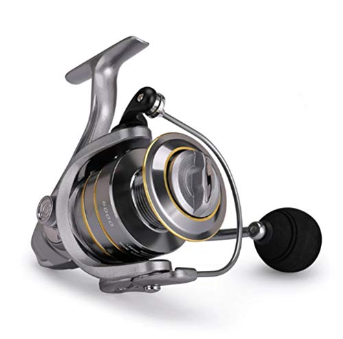 RongWang Carrete de Pesca, Carrete Doble, Brazo de Metal, alimentador de Pesca de Carpa, Carrete Giratorio, Aparejos de Pesca de Carpa, Carrete de fundición, Carrete de fundición