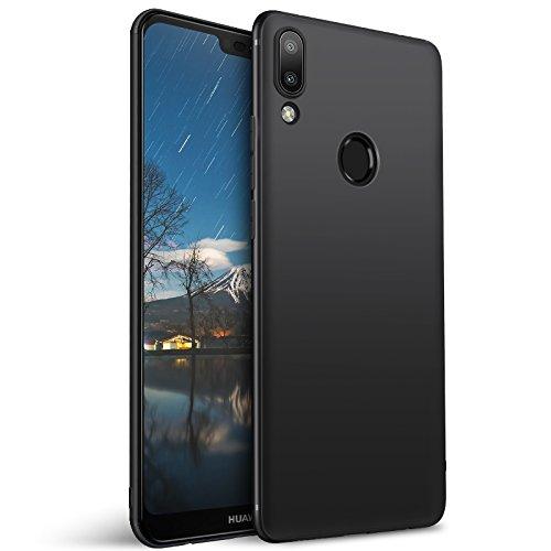 Olliwon Cover Huawei P20 Lite, Ultra Sottile Anti Graffio Case Anti Impronte Protettiva e Leggera Cover per Huawei P20 Lite, Huawei P20 Lite Custodia - Nero