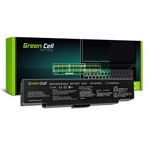 Green Cell Batería para Sony Vaio VGN-NR32Z VGN-NR330E VGN-NR360E VGN-NR385E VGN-NR38E VGN-NR38M VGN-NR38Z/S VGN-NR430E VGN-NR485E VGN-NR498D VGN-NR498E Portátil (4400mAh 11.1V Negro)