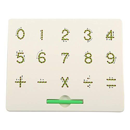 Magneetbord kinderen beschrijfbaar puzzel magneetbord, stalen kogel magnetische scheurplank, alfanumerisch magnetisch schrijfbord, leergereedschap voor kinderen Grün ·