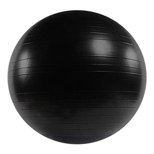 Power Systems VersaBall Stability Ball, 45 cm, Jet Black, Exercise Ball for Yoga, Core Strengthening, Balance Exercises, at Gym, Home, Schools, for Athletes and Workouts