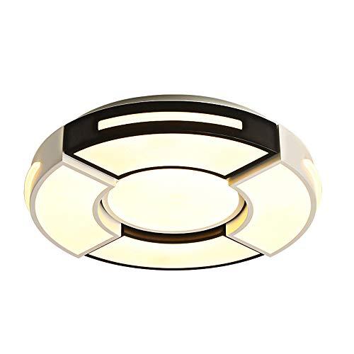 Moderne LED plafondlamp woonkamer slaapkamer dimbaar (3000K/4500K/6000K) plafondlamp acryl lampenkap ronde plafondspot, 72 Wø50 cm × 10 cm