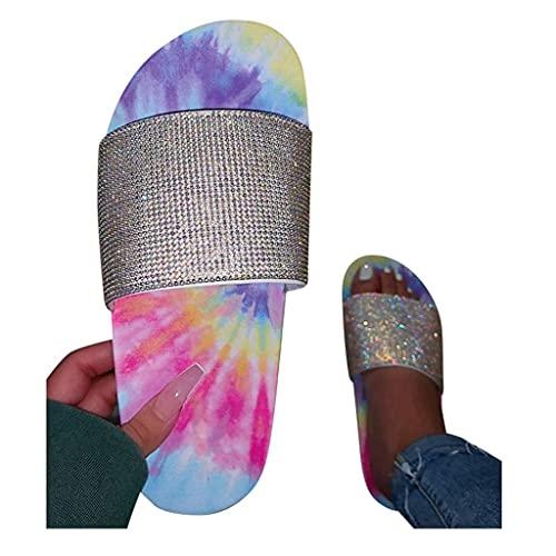 SOFIALXC Sandals for Women Platform, Multicolor High Heels Comfy Sandal Shoes Summer Beach Travel Slipper Flip Flops