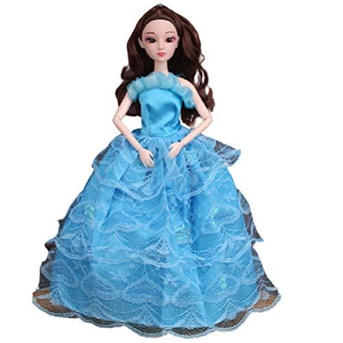 1 paquete de vestido de tela para muñeca de boda, vestidos de moda, vestidos de fiesta de boda, vestidos de disfraces, accesorios de disfraz para muñeca de 11.5 pulgadas