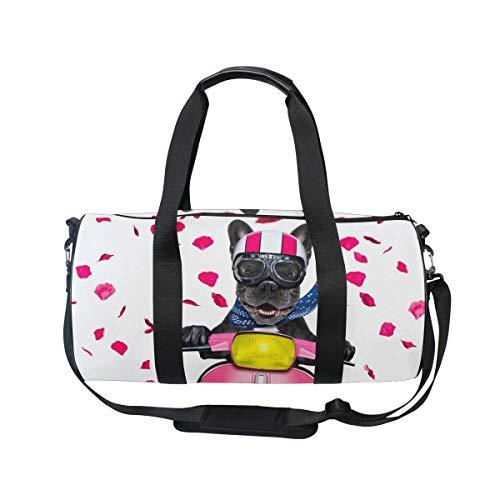 MNSRUU Große Reisetasche mit französischer Bulldogge, Unisex, hohe Kapazität, Sporttasche