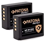 PATONA Protect V1 (2x) Ersatz für Akku Fujifim NP-W126s und NP-W126. Beste Zellen machen ihn stark und langlebig. Der Akku kann problemlos auch mit dem original Ladegerät geladen werden LEISTUNG/SICHERHEIT: 1140mAh / 8.44Wh / 7.4V / Zertifizierte Li-...