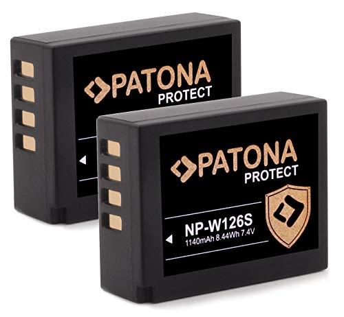 PATONA Protect V1 (2X) Akku NP-W126s NP-W126 (1140mAh) mit NTC-Sensor und V1 Gehäuse - ohne Verwendungseinschränkung