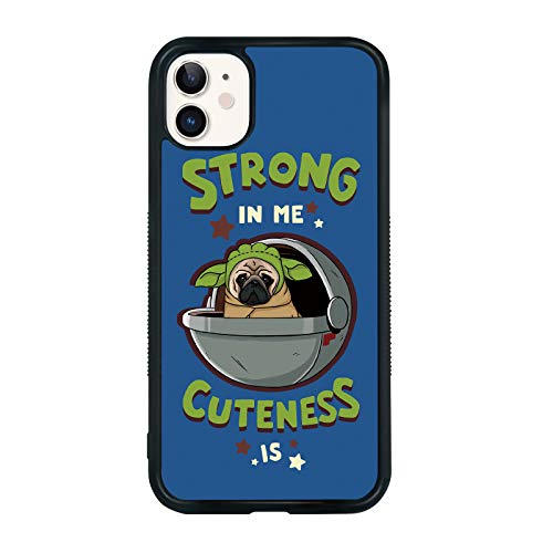 Baby Yoda Phone Case Compatible with iPhone 11 6.1 Inch - Shockproof Protective TPU Aluminum Cute Cool Pug Phone Case Designed for iPhone 11 Case for Boys Girls Teens Women Men Yoda (Baby Yoda)