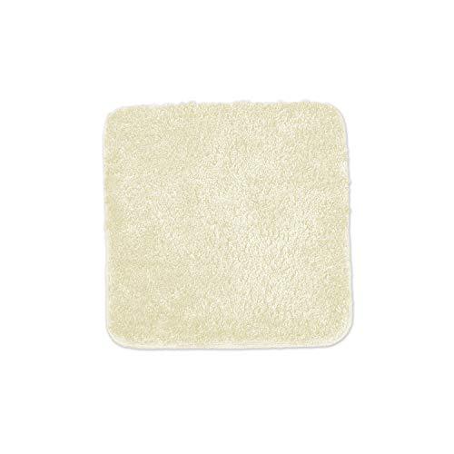 WohnDirect Badematten zum Set kombinierbar • Badvorleger 45x45 cm • Badteppich rutschfest & waschbar • Creme • OHNE WC Ausschnitt