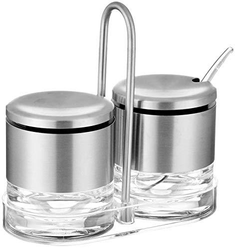 Depory Sahne-Zucker-Menage Edelstahl Silber