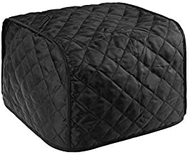 BCP Polyester Fabric Quilted Four Slice Toaster Appliance Dust-proof Cover (Black)