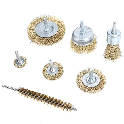 Professional 7Pcs Wire Wheel Brush Long Service Life Wire Brush Hardened Steel Wire Widely Used,for Home
