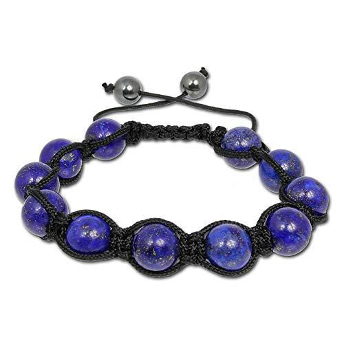 SilberDream Shamballa Armband blau Arm-Schmuck Damen Kugeln 18-23cm SDA918