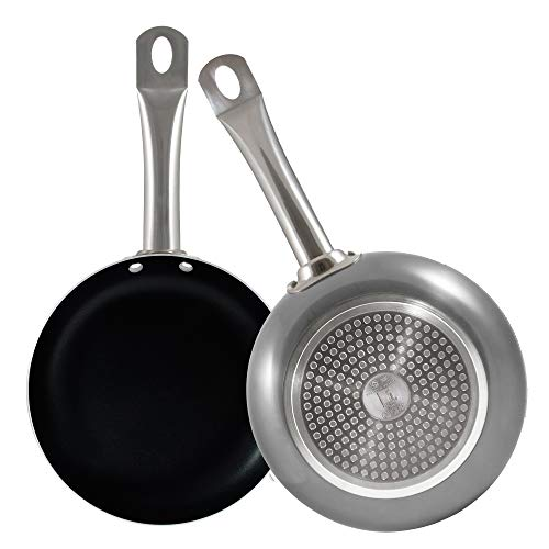 bergner q2842 set 2 poêles Ø 20/Ø 24 cm Professional Chef Platinum, Noir