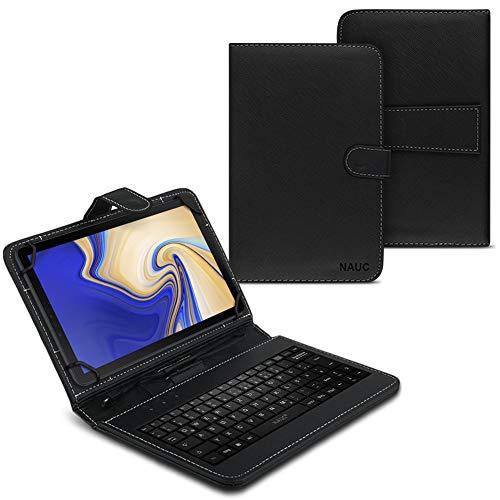 UC-Express NAUC Hülle Tasche Keyboard Case für Samsung Galaxy Tab S4 10.5 Zoll Tastatur QWERTZ Standfunktion Micro USB