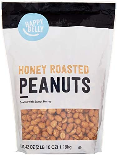 Amazon Brand Happy Belly Honey Roasted Peanuts 42 ounce product image
