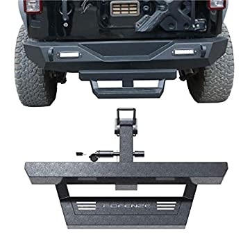 POFENZE Hitch Step fit for Vehicles with 2  Towing Receiver Protect Rear Bumper Bar