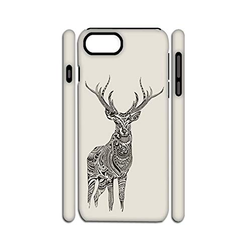 Printing Deer 1 Sole Shell Rigid Plastic Compatible iPhone 7 Plus 8 Plus Man Choose Design 136-5