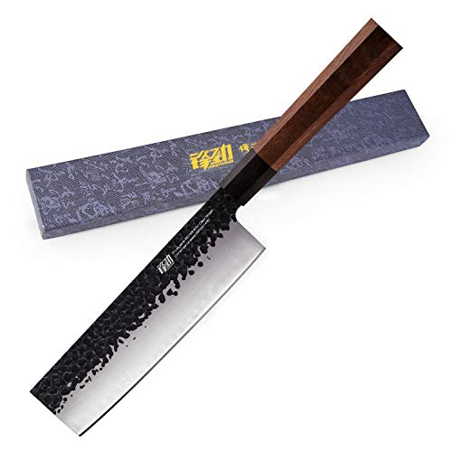7 inch Nakiri Knife by Findking-Dynasty series-3 layer 9CR18MOV clad steel w/octagon handle Gyuto Knife