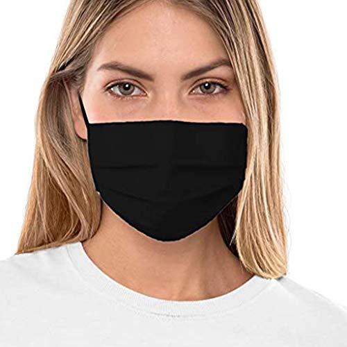 Facial Negra para Mujeres Y Hombres, Bandana Facial Que Cubre, Reutilizable, Lavable...