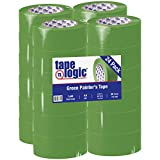 Aviditi Tape Logic 2 Inch x 60 Yards, Premium Green Painter's Tape, Pack of 24 - Great for Painting, Hard to Stick Surfaces, Sharp Paint Lines, Easy Removal and Residue Free (T9373200)