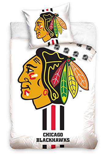 NHL Chicago Blackhawks 181002 National Hockey League Fan Bettwäsche 140x200 cm + 70x90 cm