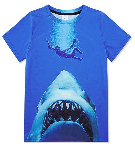 Jubestar Camisetas Niños 3D Impreso Gráfica Boy's T-Shirt, Camisetas Niñas Manga Corta para Ropa de Niños de 6 a 16 Nños