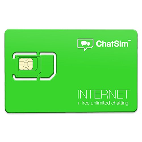 ChatSim 2 (Internet + Chat) - Tarjeta SIM internacional para navegar en más de 150 países y chatear gratis con WhatsApp y las otras aplicaciones de chat