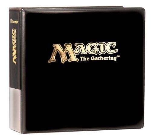 - Ultra Pro - Classeur de cartes à jouer et collectionner - Collector Logo Magic- Classeur noir 3 anneaux pour cartes à jouer et collectionner.-