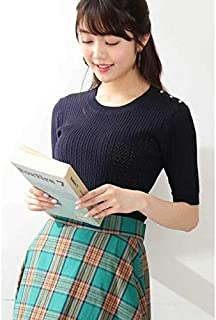 エヌ ナチュラルビューティーベーシック(N.Natural Beauty Basic*) レースケーブルニット五分袖