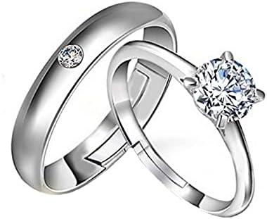 Mail order cheap MOTIEL Finger Couple Ring For Wedding Whi Engagement 10K 18K 14K Max 80% OFF