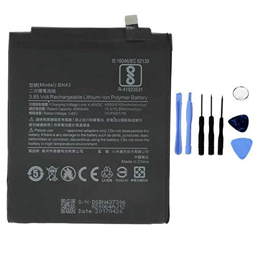 Ellenne Batería compatible con Xiaomi Mi Redmi Note 4X BN43 de alta capacidad 4100 mAh con kit de desmontaje incluido