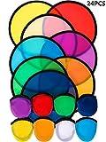 24 Piezas de los Fans de Disco Volador Plegable Set Beach Flying Disc para Fiesta Regalo Creativo Halloween Navidad Año Nuevo, 8 Colores