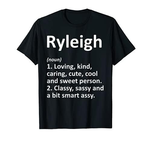 RYLEIGH Definición Personalizada Divertida Idea de Regalo de Cumpleaños Camiseta