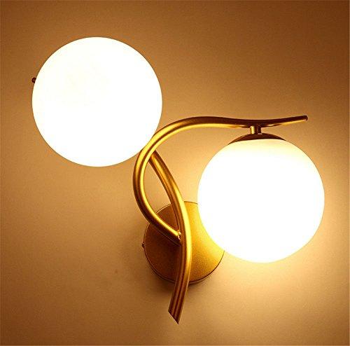 wall lamp bracket light Lámpara de pared luz del soporte Apliques Sconces Moderno minimalista creativo dormitorio sala de estar escaleras pasillo dorado derecho sin fuente de luz