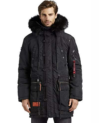 khujo Dumble Herren Parka Winterjacke Winter Jacke Mantel Carter schwarz Black (XL, schwarz)