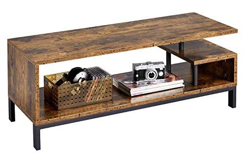 Yaheetech Mesa de Centro 106 x 40 x 40 cm Mesa para TV de Estilo Rústico Mueble Auxiliar en Salón Mesas de Centro para El Salon Mesa Baja Vintaje