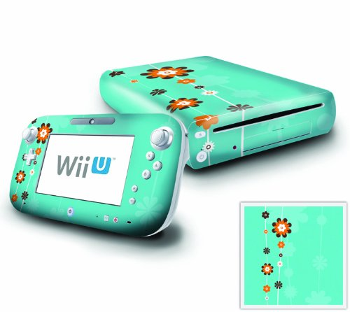 Nintendo Wii U Console and GamePad Decal skin Sticker - Flower Greetings