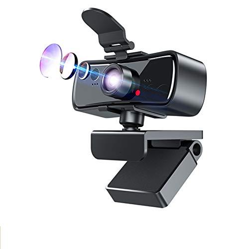 Webcam 1080p Cámara Web de Webcam Full HD de 1080p para computadora PC Portátil USB Web CAM con micrófono AutoFocus webcamera (Color : 1080P Webcam)